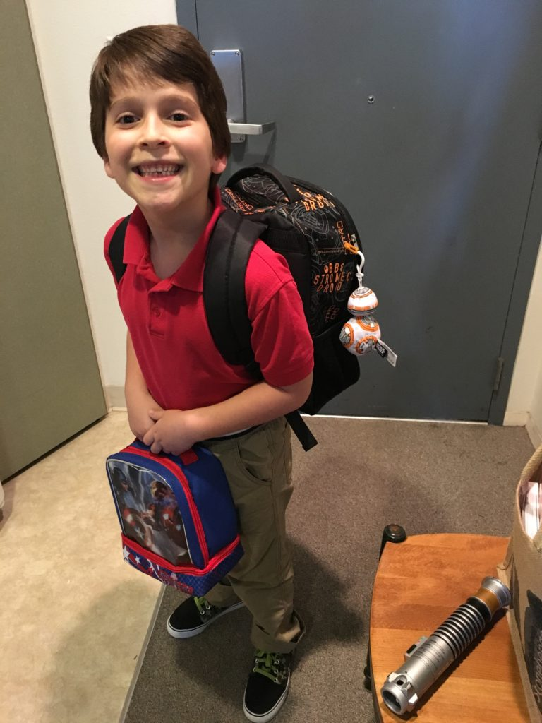 Nash on his 1st day of 1st grade in California