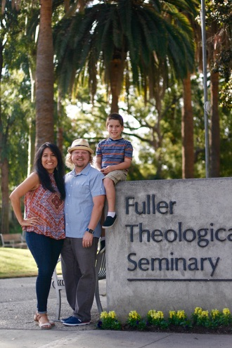 McBryde family in front of the Fuller Theological Seminary
