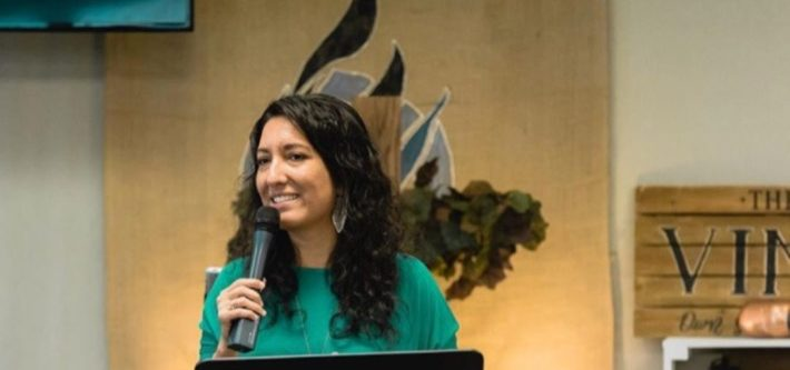 Ines preached on Communion at Own Your Faith