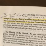 Notes I wrote in my Systematic Theology text book in Fall 2000 at Trinity Evangelical Divinity School