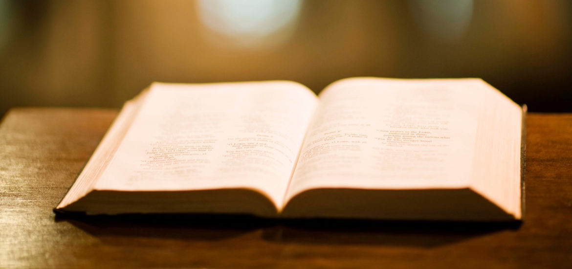 Picture of a Bible on a pulpit