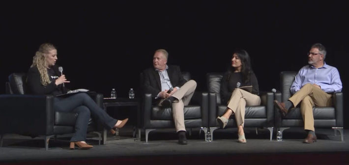 Panelists at the Pushpay Summit 2019 in Dallas, TX