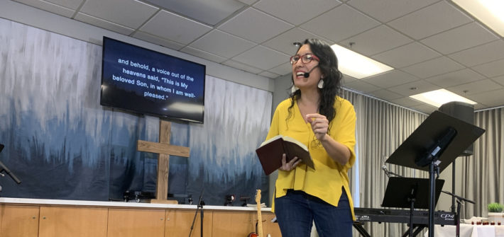 Inés Velásquez-McBryde preaching at The Vine / Own Your Faith on October 27, 2019